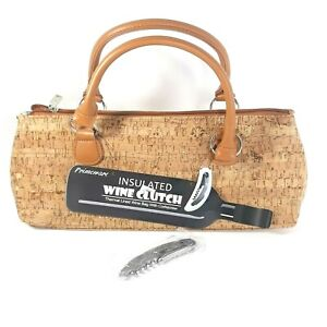 Primeware Insulated Corkscrew Wine Clutch Champagne Bottle Cooler Carrying Case