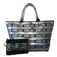 Victoria`s Secret Large Sequin Tote with Pouch