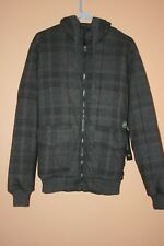 "O'Neill Men's Flannel Jacket Hoodie ""Lumber"" Black M NWT"