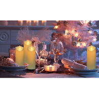 10x Window Candle Lights Candle Lights Solar Candle Lights with Suction Cups