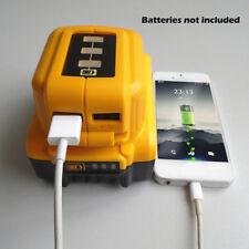 12/20V USB Cargando Batería Adaptador para DEWALT DCB090 PoderFuenteCargador