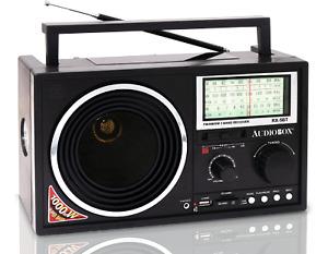 Audiobox RX-5BT Portable 3-Band Bluetooth/Solar Radio with MP3 Player W Speaker