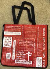 Lululemon Large Red Manifesto/lululemon Reusable Tote Bag No Snap
