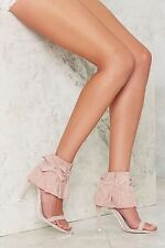 Jeffrey Campbell Manguito Suede Heels - Pink rose suede new in box size 6 open