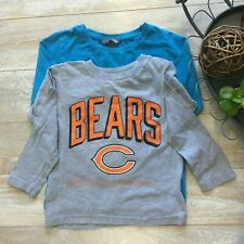 Nfl Bears and H&M Boys Bundle Two Long Sleeve T-Shirts, Size 4T, Guc