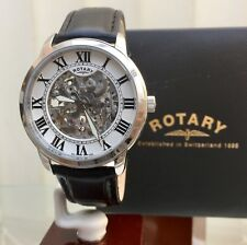Rotary Swiss Men's Watch Skeleton Automatic Watch 21 Jewels RRP £280 NEW
