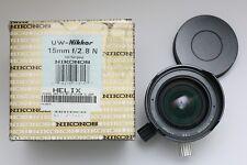UW-Nikkor Nikonos 15mm f/2.8 underwater wide angle lens. Pressure tested.