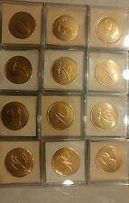 Crane & co 10 monogram seals gold foil letters H V Q  U N O G D Y  E