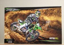 *JUSTIN HILL*SIGNED*AUTOGRAPHED*POSTER*MONSTER*ENERGY*KAWASAKI*PROOF*COA*