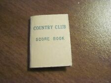 Mint ORIGINAL Country Club Score Book to #9118 Tea Time Vintage Tammy Ideal Doll