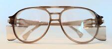 "New listing Vintage Brown Aerosite Z87 A.O Safety Glasses 5 3/4"" Side Shields"