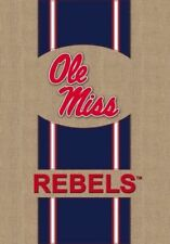 "Ole Miss REBELS ""Burlap"" House Flag -  28""x44"" by Evergreen"