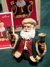 Hallmark Jolly Old Kris Jingle Christmas Ornament And Bell! Mib w Card 2004