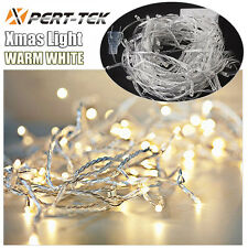 50ft 200LED Warm White String Fairy Lights Party Christmas Decor Outdoor Indoor