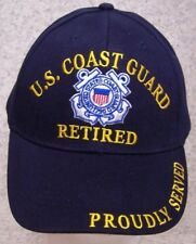 Embroidered Baseball Cap Military Coast Guard Retired NEW 1 hat size fits all #2