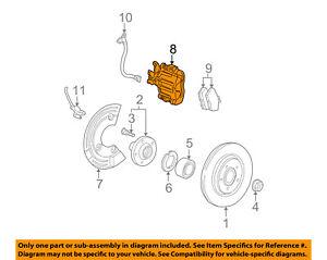 Lincoln FORD OEM 01-02 LS Rear Brake-Disc Caliper Assembly 1W4Z2552AB