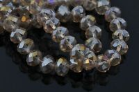 100pcs Loose Crystal Glass Faceted Rondelle 3x4mm Spacer Beads Findings FREE