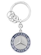 "Genuine Mercedes-Benz Blue Emblem History ""Stuttgart"" Keyring B66041524 NEW"
