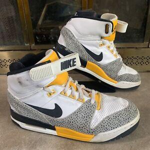 Nike Air Revolution Safari 599462-102 White/Yellow/Black Mens Size 12 Swoosh