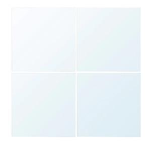 "IKEA LOTS Mirrors 1 pack - 4 Mirrors 4x 12""x12"" White 391.517.00 stick on wall"