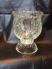 Vintage Fostoria Avon Tulip Crystal Reversible Candle Holder