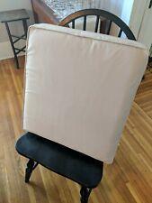 "Classic Accessories Sunbrella Never Used Beige Outdoor Canvas Seat Cushion 23"" L"