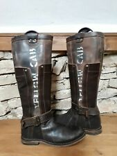 YELLOW CAB Damenschuhe Schuhe Stiefel Boots Leder Trig