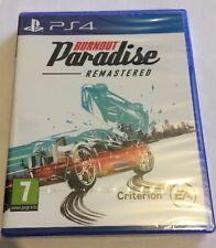 Burnout Paradise Remastered Jeu Ps4 Neuf Sous Blister