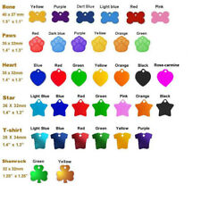 100 Pieces Blank Pet Id Tags Anodised Aluminium Tags Colourful Dog Cat Tag