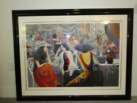 """ORIGINAL Isaac Maimon """"Ballroom Dancing"""" Hand Signed & Numbered Limited Edition"""