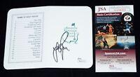 JUSTIN ROSE  Signed PGA MASTERS Golf Score Card / Augusta + JSA COA #AA56355