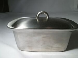 Stainless Steel Insulated Covered Butter Dish. Holds 250g block.