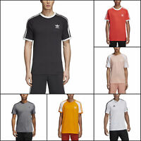 adidas Mens Athletic T-Shirts Training 3-Stripes Work-Out Tee Short Sleeves
