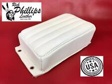 Pillion Passenger Pad Tuck & Roll White Bates Style Motorcycle Rich Phillips