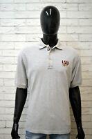 Polo Grigia Uomo TOMMY HILFIGER XL Maglia Manica Corta Shirt Man Herrenhemd