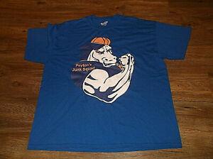 Vintage Denver Broncos PEYTON'S JUNK SQUAD Manning T Shirt Sz XL Cotton Blend