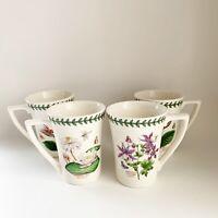 4 Vintage Portmeirion Botanic Garden Butterfly Floral Coffee Mugs