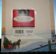 🎄Hallmark Christmas Designed Paper 30 Sheets Laser & Inkjet Sleigh Cardinal New