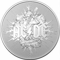 2021 AC/DC $1 1oz Silver Frosted Uncirculated Coin