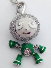 "Lauren G Adams Bubble Kids Pave Boy Necklace Rhodium, 36"" Chain, N-73401, New"