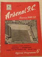More details for 1949 football league arsenal v liverpool original signatures