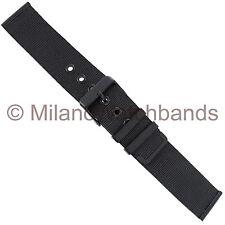 22mm Milano PVD Matte Black Two Piece Fine Mesh W/ Eyelets Watch Band ME005