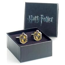 Harry Potter: Hufflepuff House Silver Plated Cufflink Set - New Official In Box
