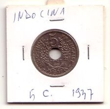 Indonesia 5 cent 1937 Spl  XF    KM 18