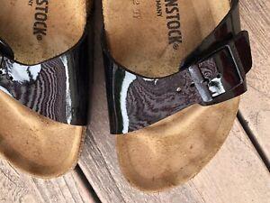 Birkenstock Madrid Damen Sandalen Black Lack Leder Gr. 40