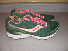 Women's Saucony Shadow Genesis S15105-21 Tennis Shoes US 8 GREEN PINK YELLOW