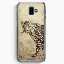 Vintage Leopard Samsung Galaxy J6+ Plus (2018) Hülle Motiv Design Tiere Schön...