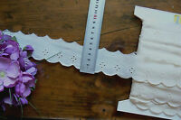 Cambric Lawn Cotton Eyelet Lace CREAM 40mm wide 2+3.5 = 5.5Mtrs Lngth 2058FltLwn