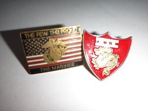 2 Usmc Revers Broches: The Peu De Proud Marines + 3rd Avion Aile III