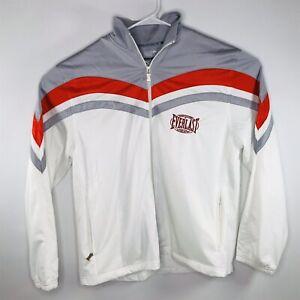 EVERLAST Men's Long Sleeve Full Zip Gray Red White Polyester Jacket Size Large